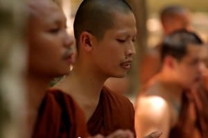 Ven. George chanting with other monks.